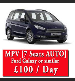 seven seater car rental london